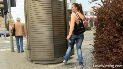 Jessica - Locked public toilet