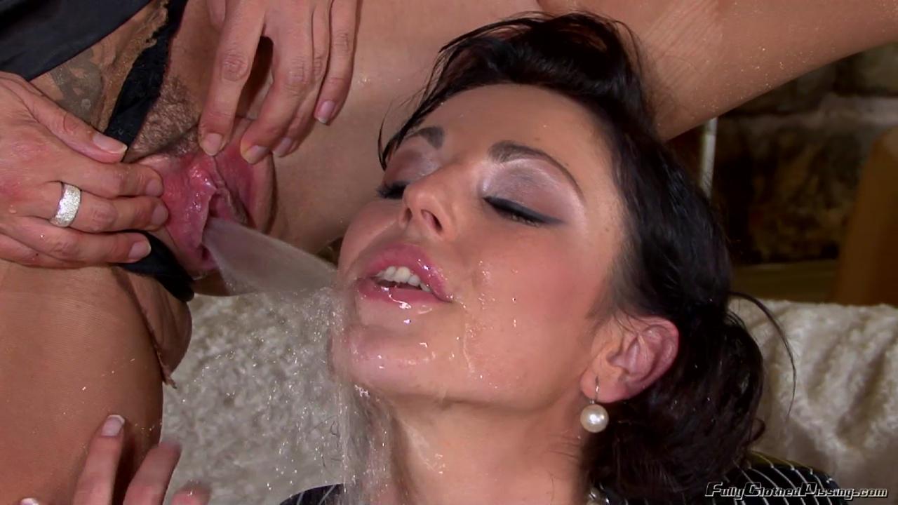 image Hot frida sante pissing after facial cumshot