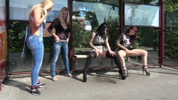 Leah Obscure - Public pee at the bus station