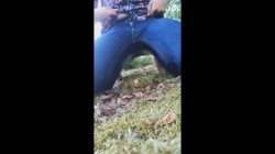 Wetting my jeans outside