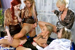 Glam domination Adel Sunshine, Vanessa Hell, Angel Piaff, Nathaly Cherie, Kate Gold