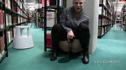 Lara-CumKitten - KRASS - student pisses in the middle of the university library