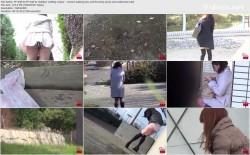 FF-038 02 Outdoor wetting voyeur - women leaking piss and throwing away wet underwear