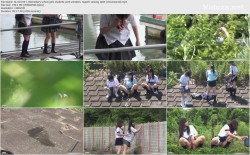 SL-019 02-1 Elementary school girls students joint urination  Superb viewing spot! (Uncensored)
