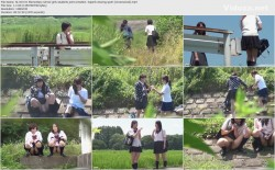 SL-019 01 Elementary school girls students joint urination  Superb viewing spot! (Uncensored)