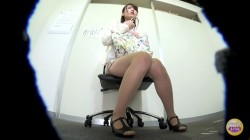 SL-217 01 Embarrassing panty leakage during female employee interview!