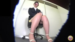 SL-217 03 Embarrassing panty leakage during female employee interview!
