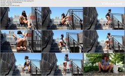 Barefoot Nudity - GINEVRA CLOUCHET: urban pissing