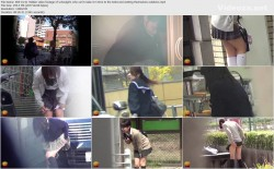 E83-01 01 Hidden video footage of schoolgirls who can't make it in time to the toilet and wetting themselves outdoors