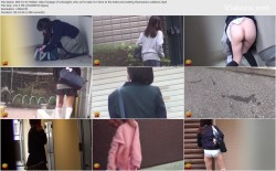 E83-01 03 Hidden video footage of schoolgirls who can't make it in time to the toilet and wetting themselves outdoors