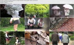 HDTSHO-01 01 Peeing companions. Schoolgirls girlfriends urinating together outdoors. (60 FPS)