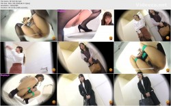 EE-363 06 Toilet voyeur - girls barely holding their pee while waiting at the private room door