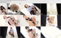 SL-377 02 Schoolgirls dashing to the toilet as soon as the chime rings  VOL  7