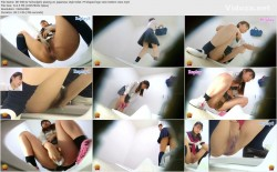 EE-398 02 Schoolgirls pissing on japanese style toilet  M-shaped legs view bottom view